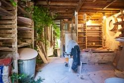 Pottery studio inside