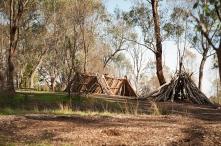 indigenous huts