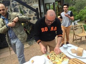 Maurizio making his famous pizza